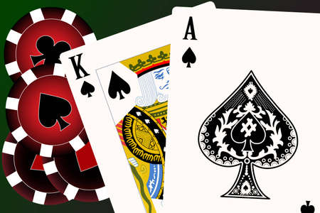 king and queen of hearts: Set of playing cards. To see similar please visit my gallery.