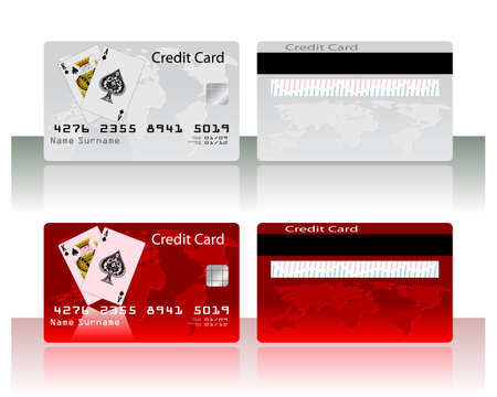 Collection of different colored credit cards for banks. To see similar please visit my gallery. Vector
