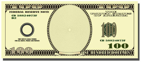 pay bill: American dollar Illustration