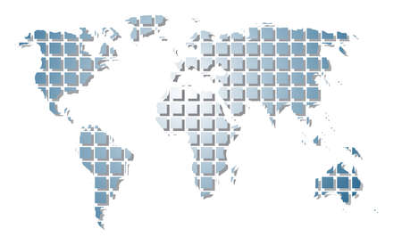 World map. To see similar please visit my gallery. Vector