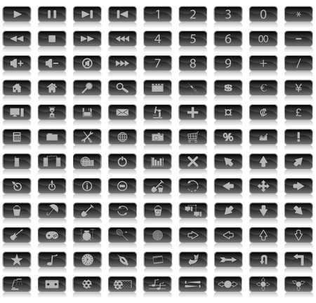 Hundred of different internet icons. To see similar please visit my gallery. Vector