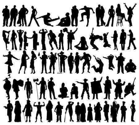 People silhouettes Stock Vector - 4578550