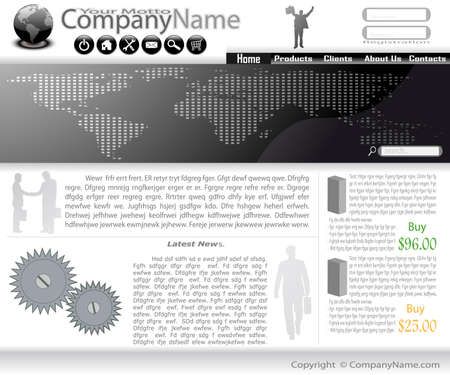 Collection of templates of website (Party #2). Vector
