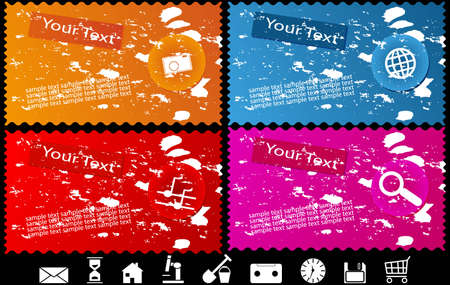 Collections of the coloured banners (Part 2). To see similar, please visit my gallery. Vector