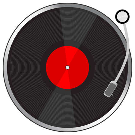 club dj: Vynil plate. To see more please visit my gallery Illustration