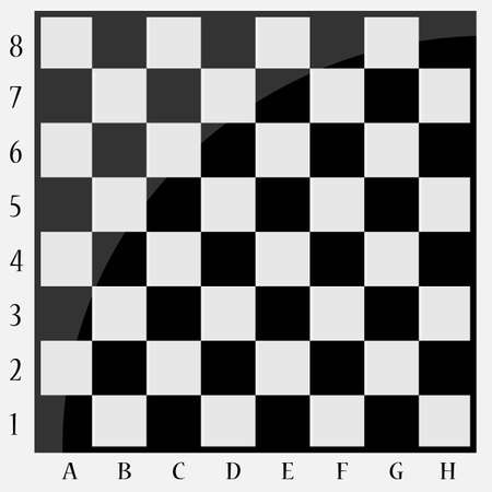 Chessboard with letters and numbers Vector