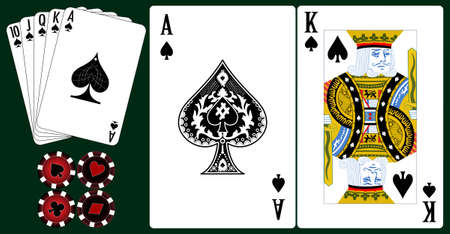 Set of playing cards. Vector