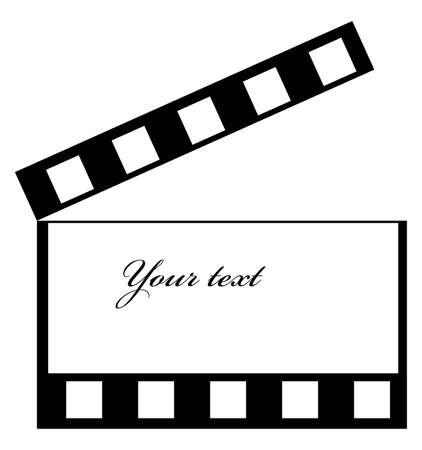 Illustratie pf een cinema frame