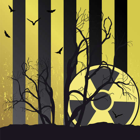 Collection of vector illustrations of radiation Stock Vector - 5492458