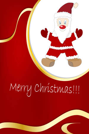 illustration of a New year and christmas frame with free space for your text Vector