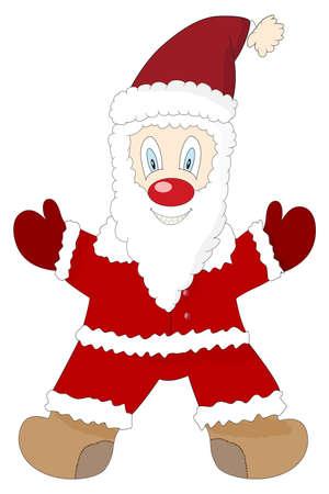 illustration of a cute cartoon Santa Claus Vector