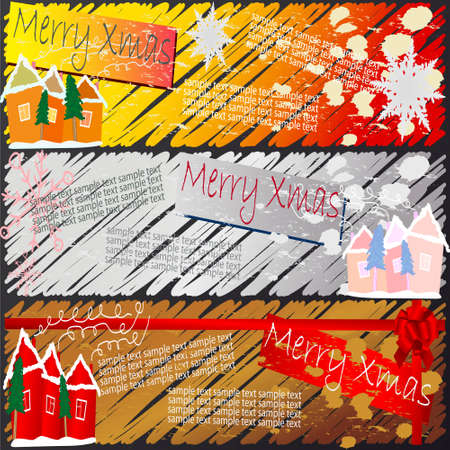 illustration of xmas and new year banners Stock Vector - 5816894