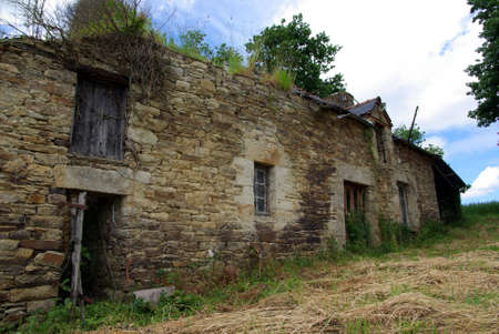 ruination: Ruin in Brittany (France). House from the middle of the 19th century. Stock Photo