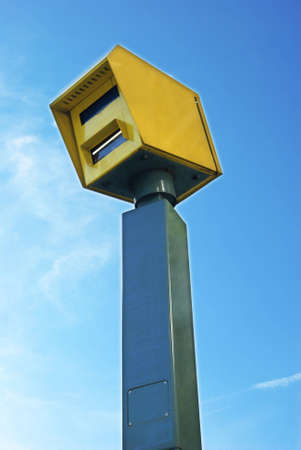 enforcing the law: View of a isolated road high-speed camera.