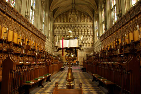 View of the interior of Magdalen church in Oxford.