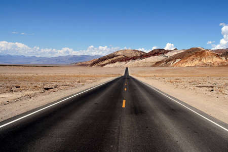 boundless: View of a boundless road in the desert.