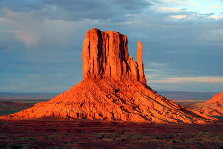 Nice view of Monument Valley at sunset.