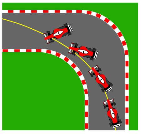 현상: Illustration of the oversteering phenomenon.