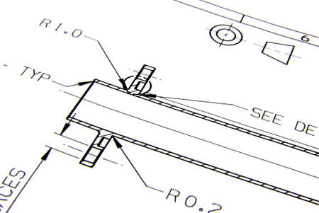 Technical drawings Stock Photo