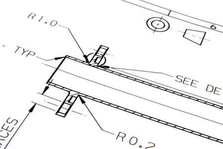 Technical drawings Standard-Bild