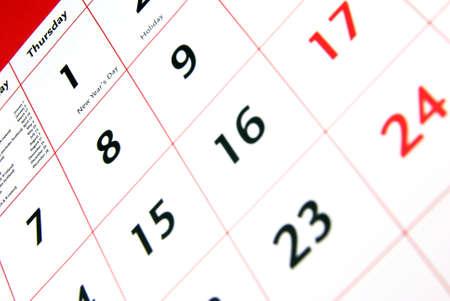Ordinal: Detailansicht eines typischen wei�en Kalender. Lizenzfreie Bilder