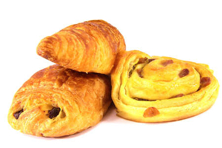 Studio shot of a some typical French viennoiseries.