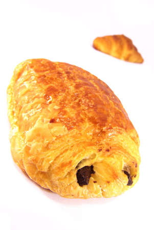 Studio shot of a some typical French viennoiseries. photo