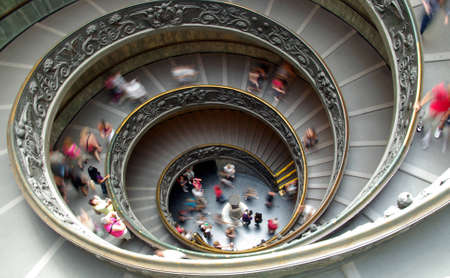 helical: Funny image of a spiral staircase at the Vatican museum