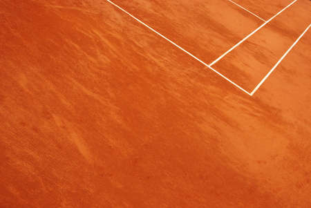 Abstract view of a tennis court in clay Stock Photo
