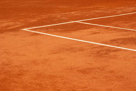 Detailed view of a tennis court Stock Photo