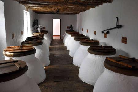 Image of some olive oil fermentation jars Stock Photo - 8879375