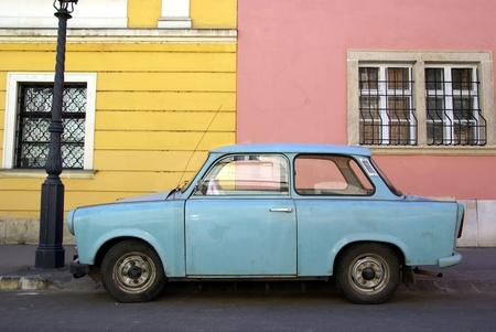 Imagen de un coche clásico de Europa oriental Foto de archivo