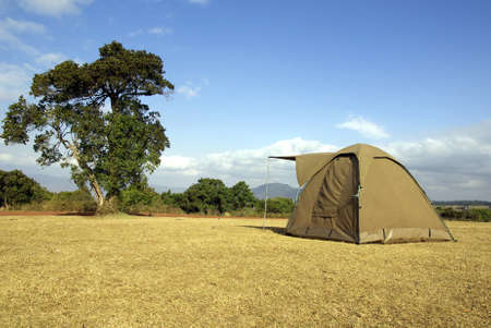 Image of a tent in a wild camping