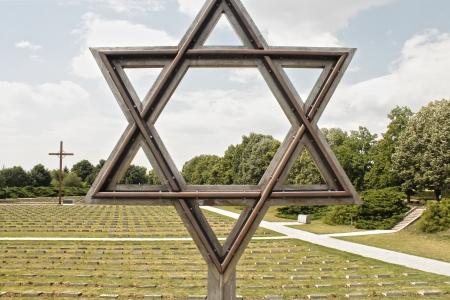 terezin: Stella di David, simbolo ebraico, il cimitero ebraico di Terezin