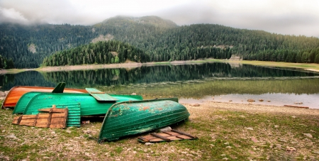 Black Lake Montenegro, The Durmitor National Park Montenegro, tourist attraction photo