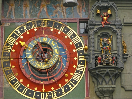 The Zytglogge is the landmark medieval clock tower in the Old City of Bern - Switzerland  Banco de Imagens