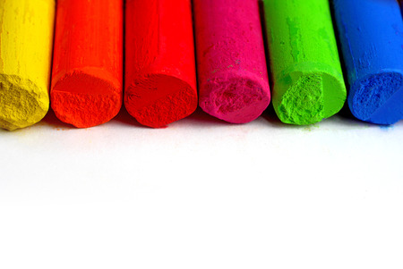 Color spectrum pastel sticks - education, arts,creative, back to school photo