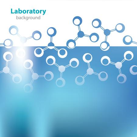 Resumen de fondo azul de laboratorio médico Vectores