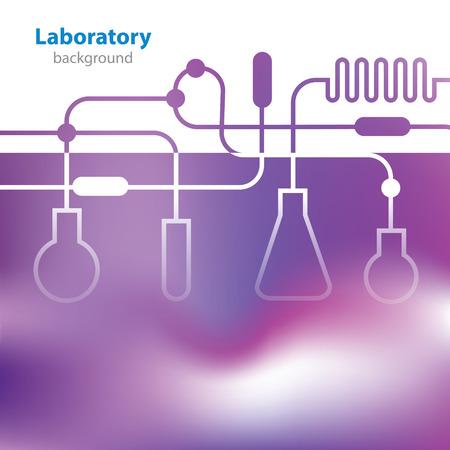 Púrpura Fondo abstracto de laboratorio médico Vectores