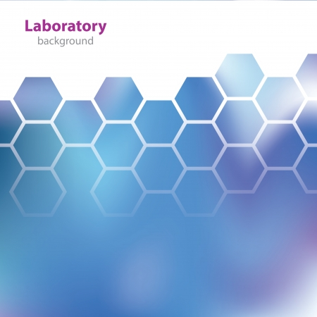 Abstract blue medical laboratory background  Vector