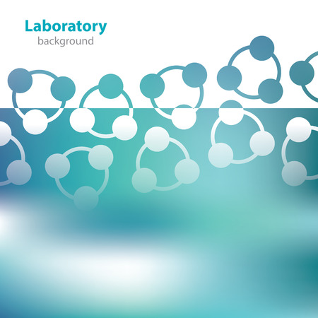 Abstract greenish medical laboratory background