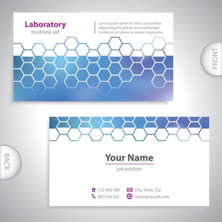pharmaceutical company: Universal dark blue medical laboratory business card