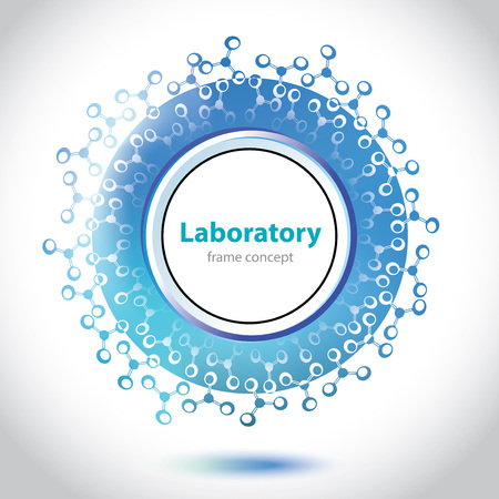 Abstract light blue medical laboratory circle element  Vector