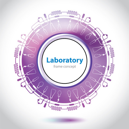 Abstract purple medical laboratory circle element  Vector