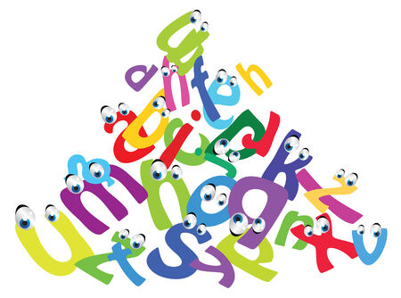 cartoon funny alphabet Vector