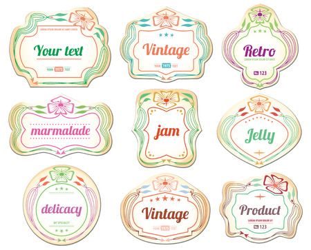 Set of vintage retro labels and stickers Vector