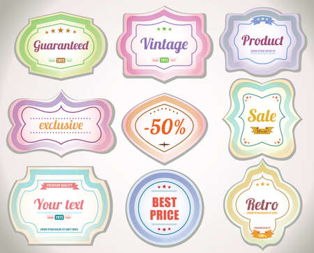 Set of vintage labels and stickers to product Vector