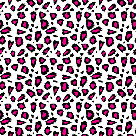 abstract pink: Seamless abstract pink animal patterns Illustration