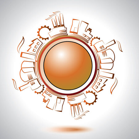 Abstract industrial circle element  Vector