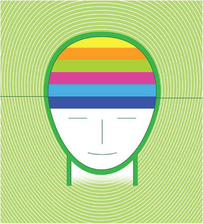 infographic head green concept Vector